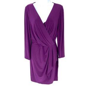CHAPS Long Sleeve Wrap Sheath Dress Sz L NWT